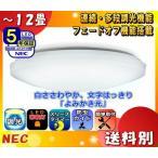 Yahoo!イーライン[新商品]NEC HLDZ12208 LEDシーリングライト 12畳 連続多段調光  白ささわやか文字はっきり[よみかき光] かんたん留守タイマー 防虫機能 「送料区分C」