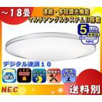 NEC HLDZG1862 LIFELED'S(ライフレッズ)LEDシーリングライト 〜18畳 昼光色 8100lm・62W デュアルクローム 調光 リモコン付「送料区分D」