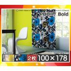 カーテン プー ボールド 100×178 ディズニー ウォッシャブル(2枚組)日本製 遮光2級(各色)M11271782 スミノエ「代引可」「送料350円」