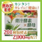 青汁酵素×酵母 3g×25包 ハッピーバース (大麦若葉 植物醗酵エキス 野草醗酵エキス 植物酵素 コラーゲン)