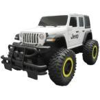 Jeep Wrangler アンリミテッド(艶消しホワイト&ブラック)おもちゃ こども 子供 ラジコン 6歳