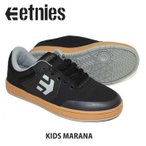 ETNIES エトニーズ スニーカー KIDS MARANA BK/GM/GY ジュニア キッズ スケートシューズ スケシュー