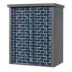 タカヤマ物置 ブロック柄の扉 TJS-1215HB 幅1250×奥行き820×高さ1500mm スチール製 収納庫