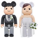 MEDICOM TOY PLUS(メディコムトイプラス)BE@RBRICK グリーティング結婚 3 PLUS 400%/ウエディングドレス/結婚式/お祝いに