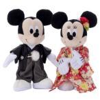 Yahoo!エスプラネード本店ディズニー ブライダル ぬいぐるみ ミッキーマウス&ミニーマウス 着物
