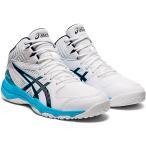 アシックス(asics) ジュニア バスケットボールシューズ ダンクショット DUNKSHOT MB 9 ホワイト/ピーコート 1064A006 106 バッシュ 靴