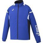 アシックス(asics) クロスジャケット ブルー×ブラック XA508N 4590 トレーニングウェア パーカー ジャケット メンズ レディース
