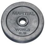 マーシャルワールド(MARTIAL WORLD) ラバープレート穴径28mm 2.5kg RP2500 トレーニング/プレート