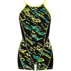 アリーナ arena レディース 競泳水着 タフミドルスパッツS ミドルボックス ブラック イエロー FSA-9622W BKYL