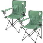 ショッピングリゾート コールマン リゾートチェア (グリーンドット) 2000026735 + リゾートチェア (グリーンドット) 計2脚セット! キャンプ アウトドア おしゃれ 椅子 運動会