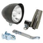 丸善電機産業 砲弾型LEDヘッドライト 黒メッキ(BKCP) 232-00162 MKS-1-CB1 自転車 サイクル パーツ