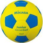 ミカサ(MIKASA) スマイルサッカーボール 軽量球 約150g 黄/青 SF3J-YBL サッカー 3号球 小学校用