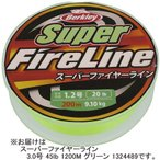 バークレー(Berkley) スーパーファイヤーライン 3.0号 45lb 1200M グリーン 1324489 釣り具 フィッシング 釣り糸 PE