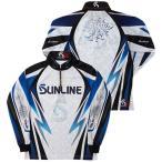 サンライン(SUNLINE) ステータス・PRODRYジップアップシャツ ホワイト 3L-4L STW-5555CW トーナメントシャツ 釣り具 フィッシング 長袖 ウェア