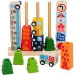 エデュテ アイムトイ(I'm TOY) ソート&カウントシティ IM-27390 木のおもちゃ 知育玩具 手押し車 ベビー キッズ 誕生日 積み木 木製玩具 出産祝い