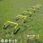 トレーニング ミニハードル 6個セット ESTH-030 部活動 ミニハードル 練習 アジリティ スピード ラダートレーニング 卒団記念