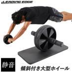 リーディングエッジ(LEADINGEDGE) 腹筋ローラー マット付き セット 静音タイプ アブホイール 腹筋 トレーニング器具 LE-AB02 筋トレ ダイエット フィットネス