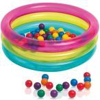 インテックス(INTEX) クラッシック3リングベビーボールピット 48674 ボールハウス 室内玩具 子供 カラーボール ボール遊び