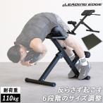 リーディングエッジ バックエクステンションベンチ マットセット 折りたたみ 背筋トレーニング用 ベンチ 筋トレ用品 LE-HRC トレーニングベンチ 体幹強化 側腹筋