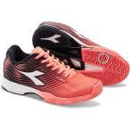 ショッピングディアドラ ディアドラ(diadora) テニスシューズ スピード コンペティション S.COMPETITION 4 W AG 7284:コーラルFL/ホワイト 172998 テニス シューズ 靴 オールコート用