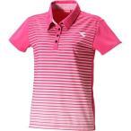 ショッピングディアドラ ディアドラ(diadora) レディース Wゲームシャツ 43 DOS7338A テニスウェア 半袖 ポロシャツ トップス