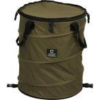 クイックキャンプ(QUICKCAMP) アウトドア キャンプ トラッシュボックス カーキ ポップアップ ゴミ箱 45L コンパクト 薪入れ QC-TB40 QCOTHER キャンプ