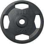 ブル(BULL) ラバープレート 15kg×1枚 BL-RP15 トレーニング用品 バーベル ウエイトトレーニング 重り 筋トレ