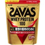 ザバス(SAVAS) ホエイプロテイン100 ココア味 1050g 約50食分 CZ7427 プロテイン ホエイ たんぱく質 タンパク質 ビタミン トレーニング 筋トレ