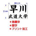 九櫻(クサクラ) 公式試合用柔道ゼッケン(プリント加工) 小学生用 30×21cm 楷書体 黒字 JT63021KAB ネーム加工料