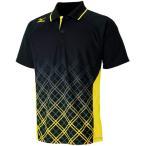 ミズノ(MIZUNO) ゲームシャツ ブラック 62JA611209 バドミントンウェア トップス メンズレディース ポロシャツ