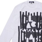 BLACK COMME des GARCONS(ブラック コムデギャルソン) BLACK ENGRAVING L/S TEE (長袖Tシャツ) WHITE 202-000990-050x【新品】(TOPS)
