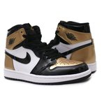 NIKE(ナイキ) AIR JORDAN 1 RETRO HIGH OG NRG (エアジョーダン) BLACK/BLACK-METALLIC GOLD 861428-007 191-012684-241(フットウェア)