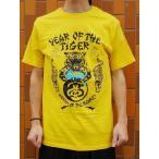 ショッピング2010 STUSSY (ステューシー) TIGER BEWARE  (Tシャツ)  ゴールド