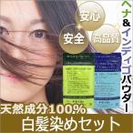 【白髪染めセット】ヘナ 100g + インディゴ 100g / 無添加・天然成分100% / 癒本舗 ヒルコス helcos