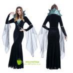 ハロウィン halloween コスプレ 仮装 衣装 大人  バンパイヤ   魔女 コスチューム ハロウィンパーティー クリスマス  魔女 ワンピース ドレス