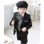 子供 スーツ フォーマル タキシード 男の子 キッズ 七五三 入学式 5点セット 卒業スーツ ピアノ発表会 結婚式 80-140cm