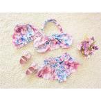 ビキニ キッズ 水着 女の子  セパレート パステルスイム フリル  キッズ ジュニア ベビー 韓国風 可愛い 子供服 スイムウェア
