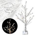 ブランチツリー 白樺 シラカバ ツリー 白 60cm 北欧 おしゃれ ウェルカムツリー  led ライト cm19a