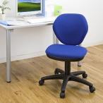 オフィスチェア パソコンチェア 背もたれロッキング 事務 キャスター ワークチェア シンプル ブルー EED-SNC025BL ネコポス非対応