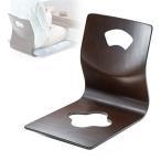 曲木のシンプル座椅子。落ち着いたブラウンで和室におすすめ!