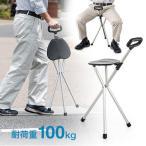 ステッキチェア 軽量 折畳み 三脚 便利 ゴルフ 釣り スポーツ観戦 EEX-CH40 ネコポス非対応