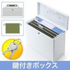 鍵付きボックス ファイル セキュリティ セーフティ マイナンバー 貴重品 書類 収納 小型 保管庫 EEX-SLHFFB390W