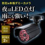 ダミー防犯カメラ 屋外対応 LED点灯 本格ダミーカメラ ダミーセキュリティカメラ EEX-SLRL017IR ネコポス非対応