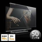 ショッピング液晶テレビ 液晶テレビ保護パネル 50インチ対応 アクリル製 EZ2-CRT016 ネコポス非対応
