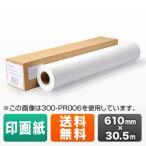 プロッター用紙 ロール紙 印画紙・半光沢 610mm×30.5m24インチロール プロッター対応 大判インクジェットプリンタ用 受注発注 EZ3-PR022