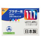 Yahoo!イーサプライ インクと用紙のお店特価セール ブラザー LC111-4PK対応 リサイクルインクカートリッジ 4色パック JIT-B1114P ネコポス非対応