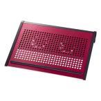 ショッピングノートパソコン ノートパソコンクーラー 熱暴走対策 14.1ワイド型まで対応 USB電源タイプレッド TK-CLN16U2RN サンワサプライ ネコポス非対応