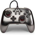 Nintendo Switch ニンテンドースイッチ コントローラー マリオ シルバー メタリック  背面ボタン付き 海外限定