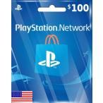 【メール通知】PlayStation Network Card $100 プレイステーション ネットワークカード 100ドル 北米ストア