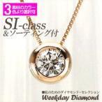 一粒 ダイヤモンド ネックレス ソリティア ダイヤ 0.20ct フクリン K18ゴールド 18金 ペンダント レディース